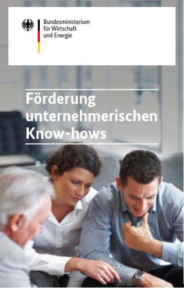 BMWi Förderung unternehmerischen Know-hows