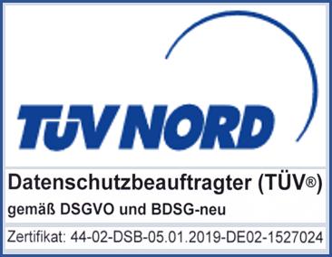TÜV Nord DSB-Zertifikat