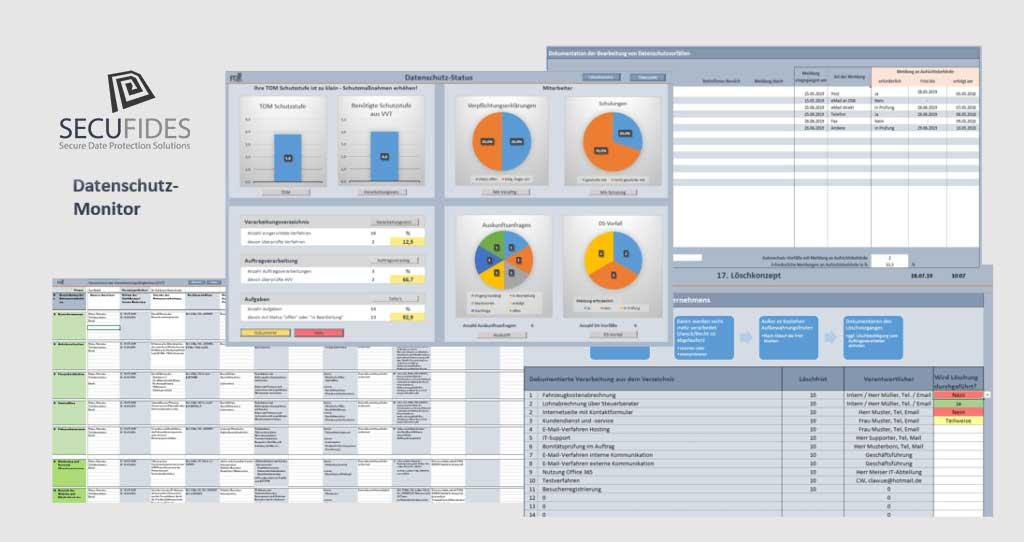 Der SECUFIDES-Datenschutz-Monitor. Mit dem SECUFIDES-Datenschutz-Monitor werden alle datenschutzrechtlichen Prozesse im Unternehmen koordiniert, überwacht und DSGVO-konform dokumentiert.